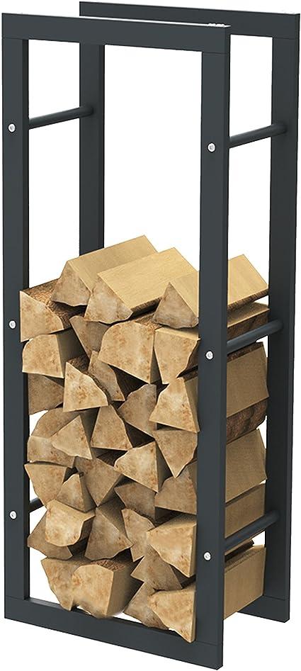 Cheminée corbeille à bois noir Holzlege intérieur holzwiege cheminée brennholzkorb Acier