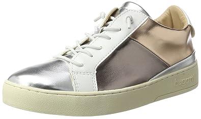 Damen 422291605050 Sneaker, Schwarz (Black/Metallic), 41 EU Bugatti