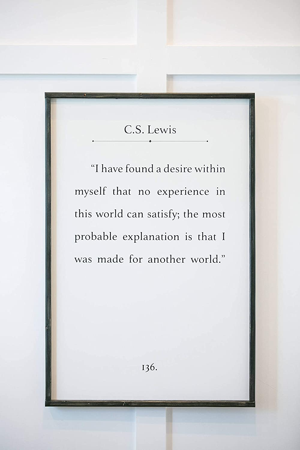 NOT BRANDED I Have Found a Desire Within Myself CS Lewis Quote Wood Sign