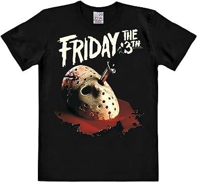 Viernes 13 Máscara de Jason camiseta negra algodón gran calidad - XS: Amazon.es: Ropa y accesorios