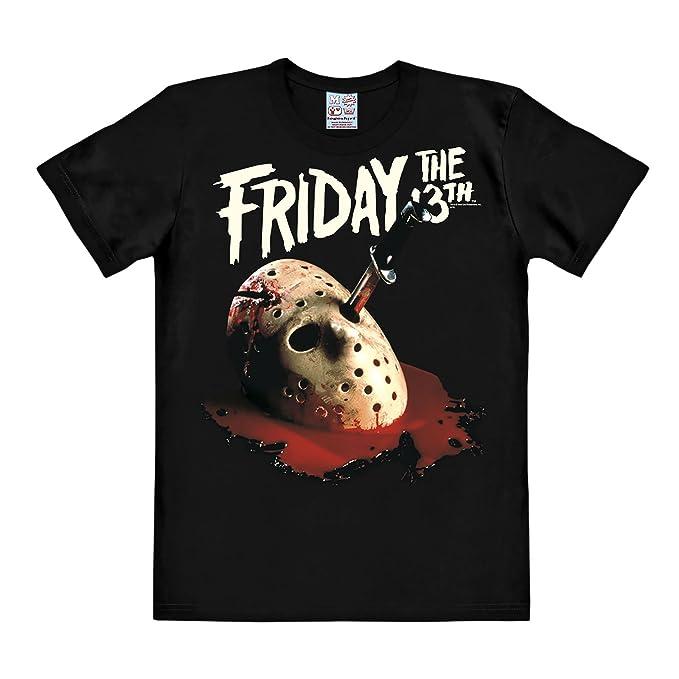 Viernes 13 Máscara de Jason camiseta negra algodón gran calidad - M