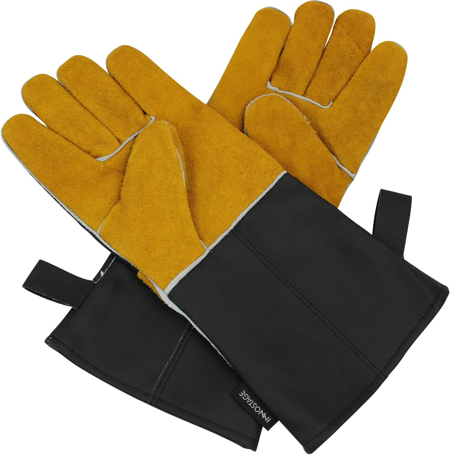 Barbecue Cooking gloves Outdoor Kitchen Travel Leather Grilling Camping