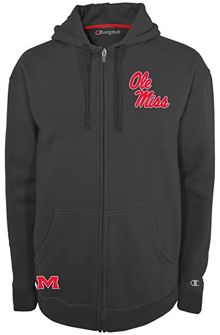 5a04de001 Champion NCAA Mississippi Old Miss Rebels Men s Fan Favorite 2 Full Zip Hooded  Fleece Jacket