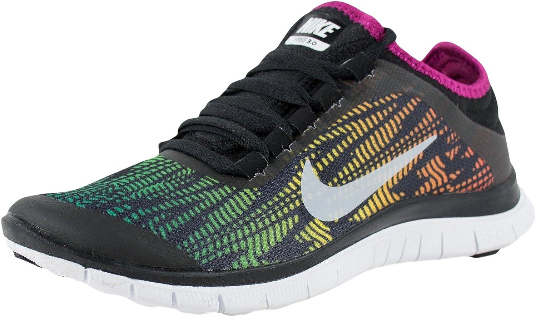 Cuarto Nube Cambios de  Amazon.com   Nike Women's Free 3.0 V5 PNT Black/White ...