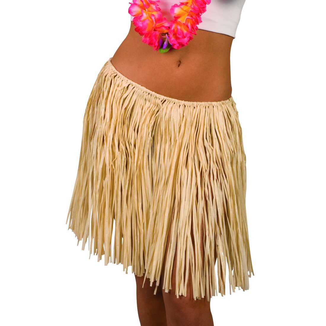 NET TOYS Falda Hawaiana - Beis, 45 cm | Falda de Rafia | Falda de ...