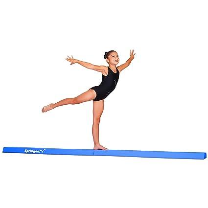 e3a4929b1529 Springee 9ft Balance Beam - Extra Firm - Vinyl Folding Gymnastics Beam for  Home - Blue