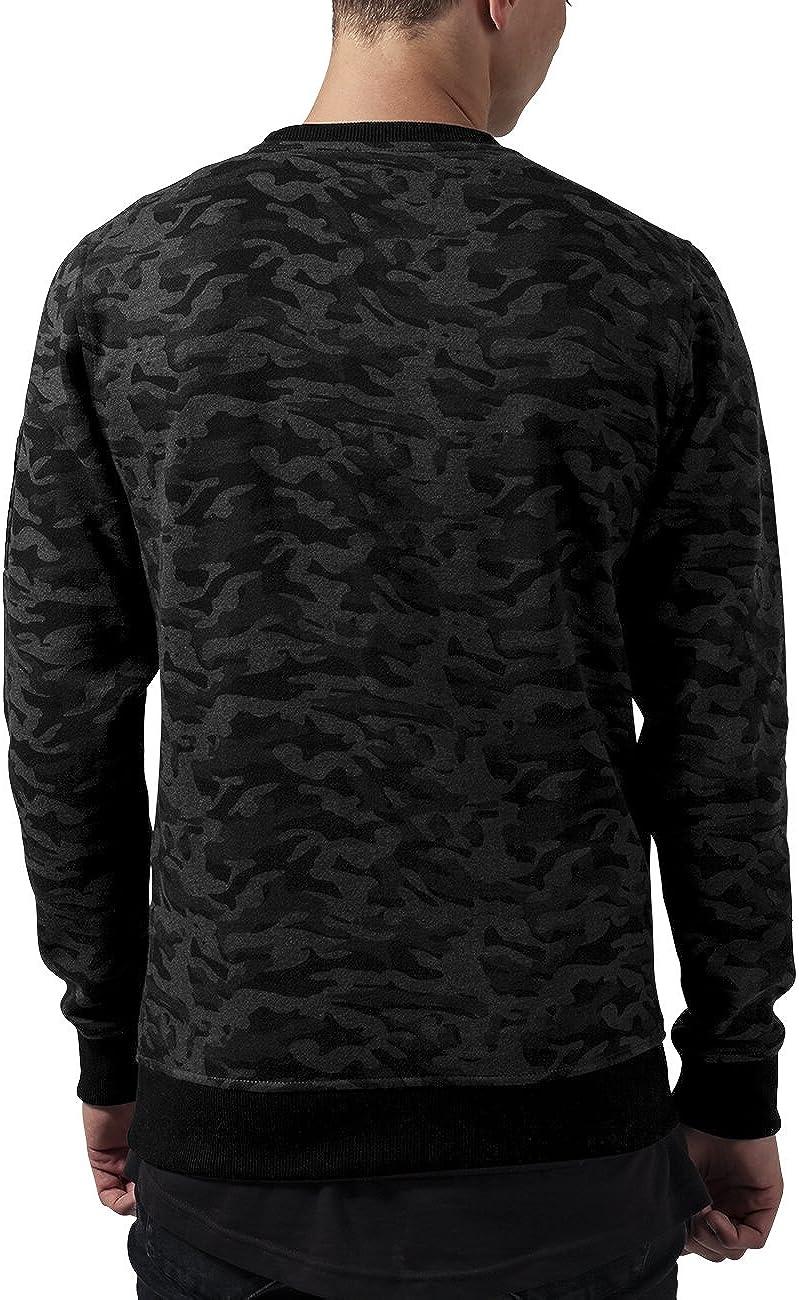 Urban Classic Mens Sweat Camo Bomber Crew Sweatshirt