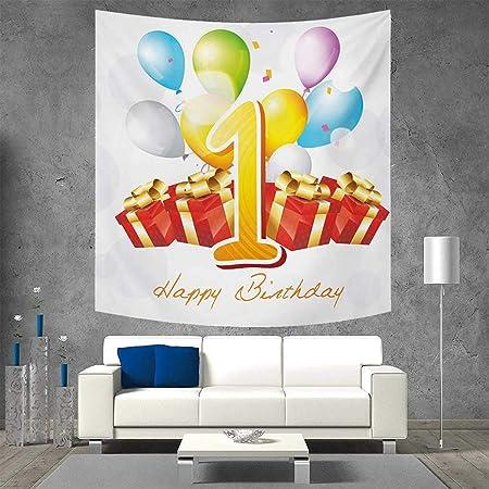 Anniutwo - Tapiz de Pared para Primer cumpleaños, impresión ...