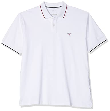 S.Oliver Big Size 15.804.35.4997 Polo, Blanco (White 0100), XXXXL ...
