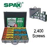 SPAX Xpert Wood Screws 2400 Assorted Screws in Metal Organiser Case