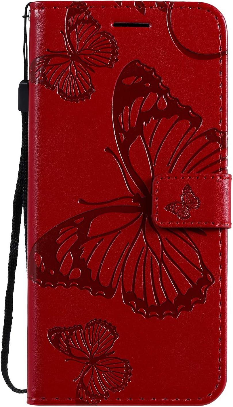 Tosim Xiaomi Redmi Note 8 H/ülle Klappbar Leder Brieftasche Handyh/ülle Klapph/ülle mit Kartenhalter Stossfest Lederh/ülle f/ür Xiaomi Redmi Note8 TOKTU090676 Blau