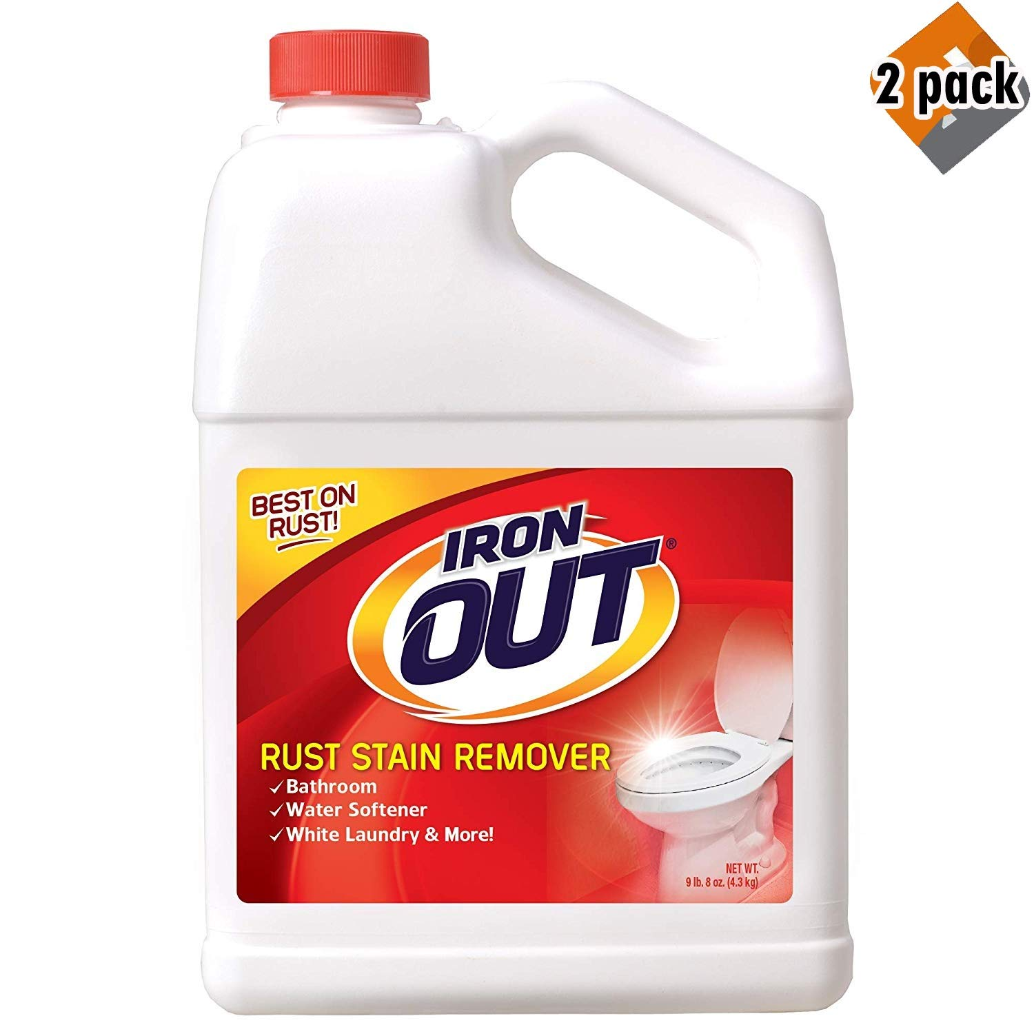 Summit Brands Iron Out Rust Stain Remover Powder, 9.5 lb. Bottle - 2 Pack