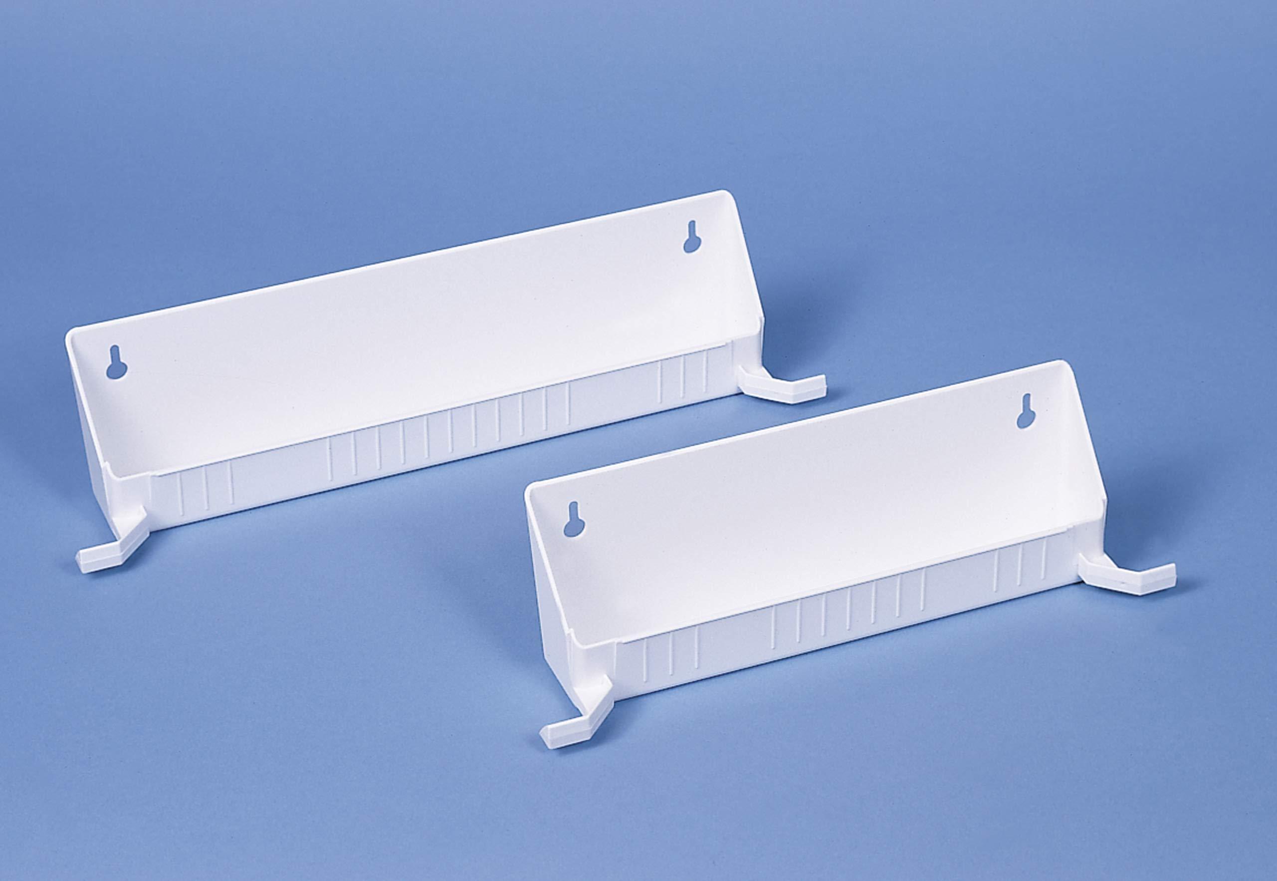 Rev-A-Shelf 14 in Tip-Out Trays w/Tab Stops, White by Rev-A-Shelf