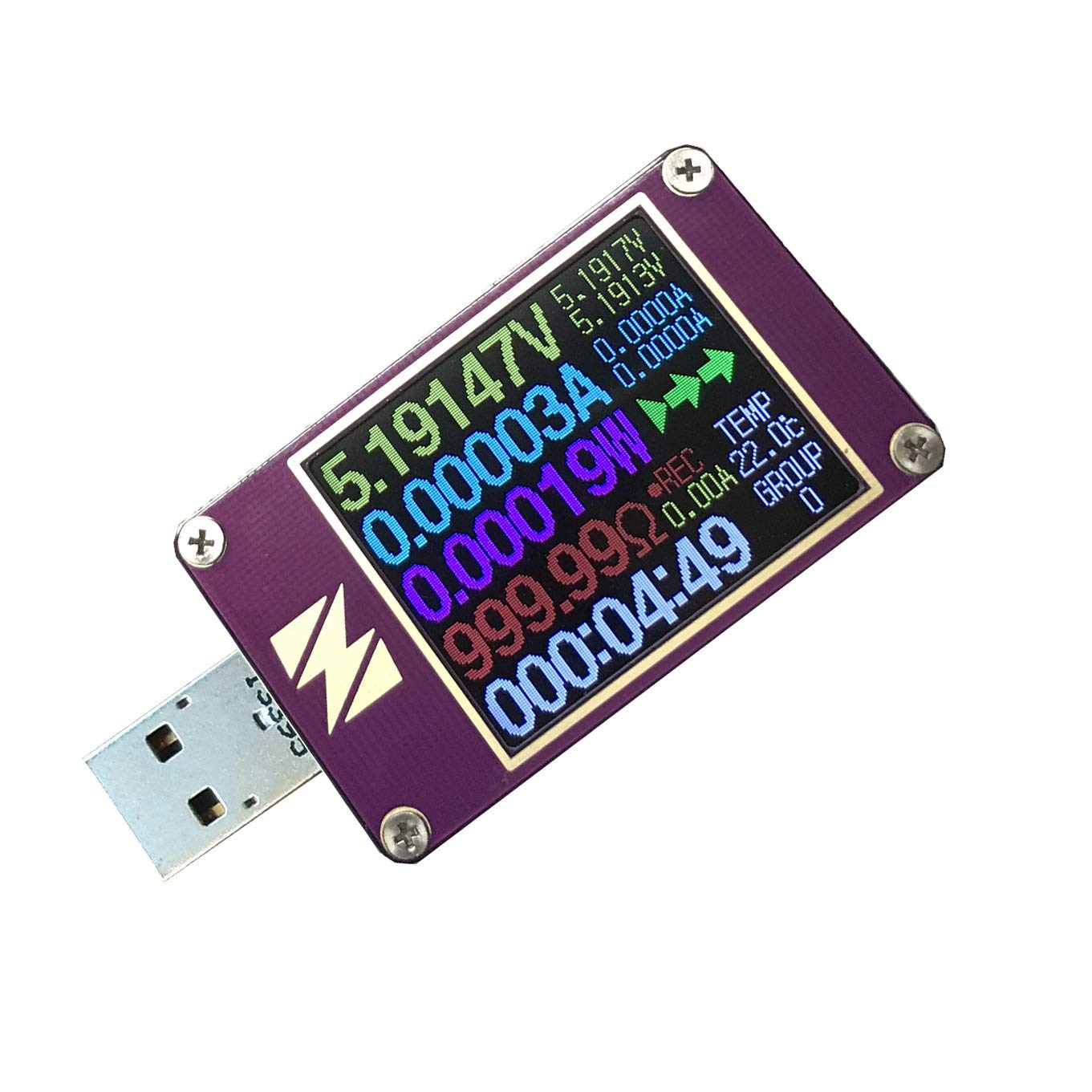 KAAYEE YZXStudio ZY1280 USB Power Meter Tester Digital Multimeter USB Load Current Tester Voltage Detector DC 24.0000V 5.0000A Charger Cables Resistance Test PD 2.0/3.0 QC 2.0/3.0/4.0 or pps Trigge