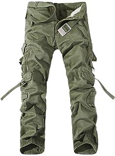 AYG Hombre Pantalon Cargo Pants Camuflaje Pantalones ...