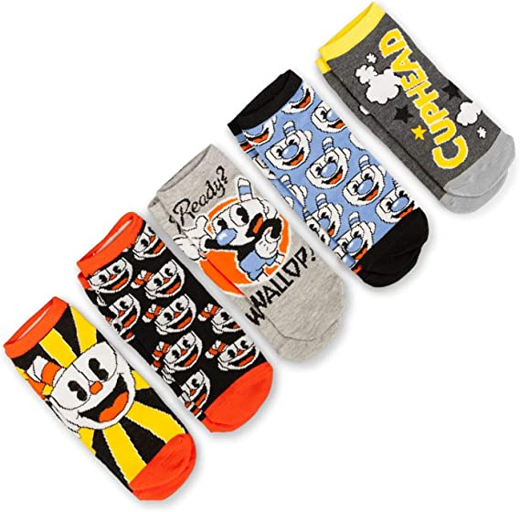 Cuphead Collectibles Adult Ankle Socks | Cuphead & Mugman Wallop ...