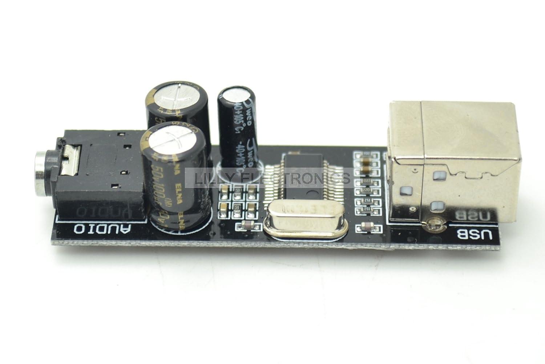 Amazon.com: Tarjeta de sonido USB PCM2704 DAC Decodificador ...