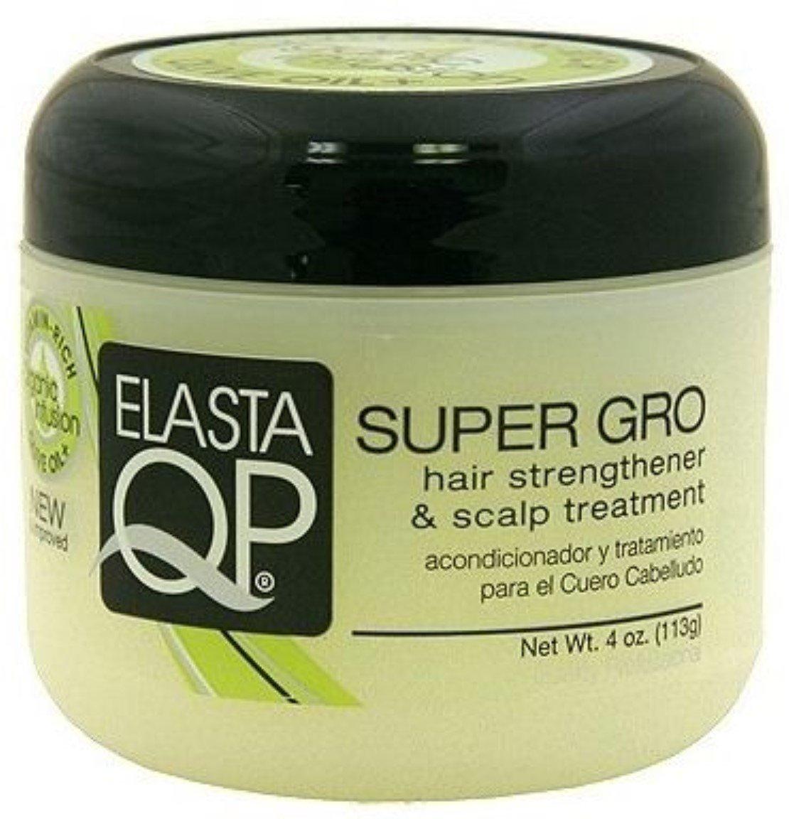 Elasta QP Super Gro Hair Strengthener & Scalp Treatment, 4 oz (Pack of 3)