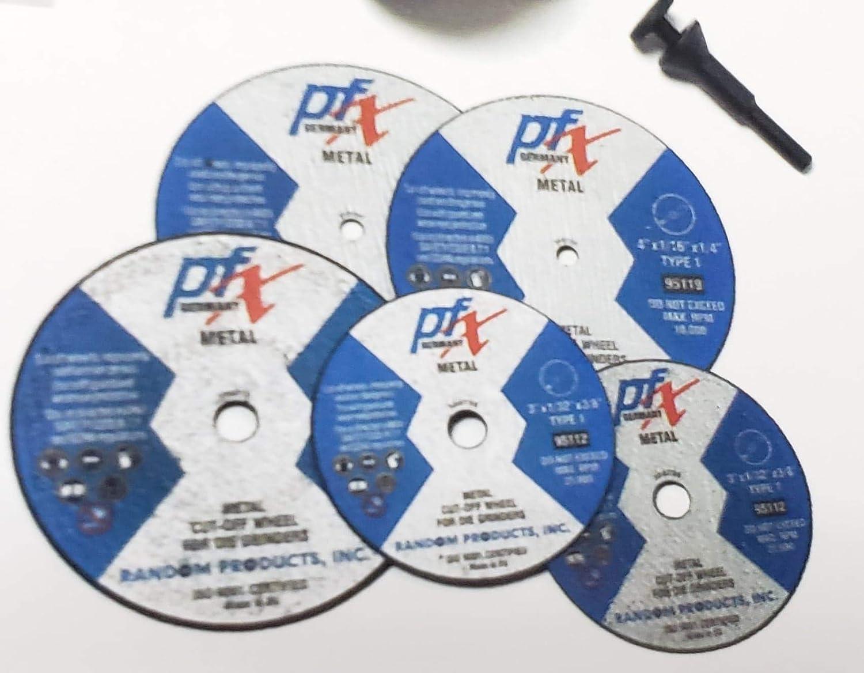 PFX 4 x 3//32 x 3//8 Type 1 Metal Cut Off Wheel for Die Grinders 25 Pack