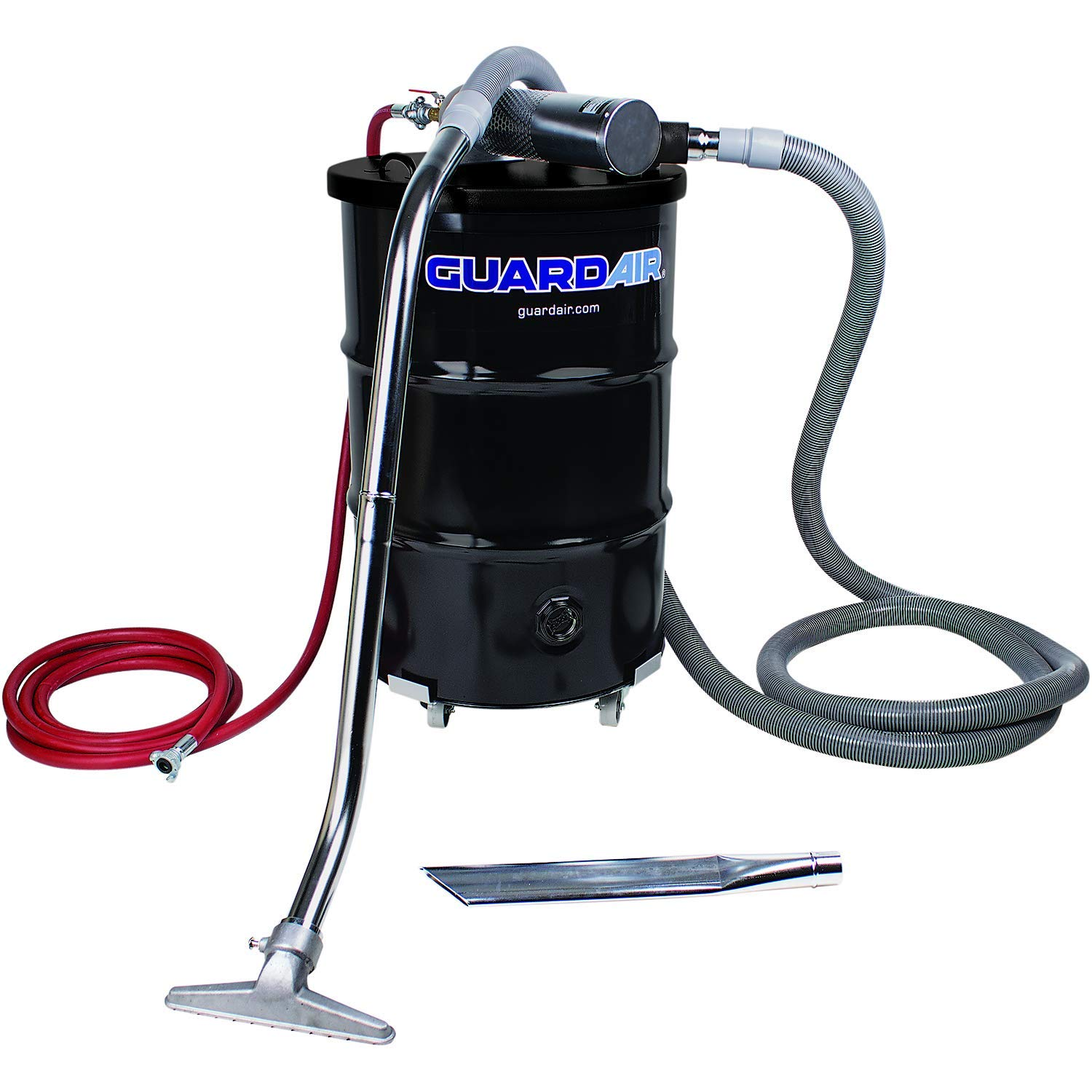 Guardair Pneumatic Vacuum N551BC 55 Gallon Drum Complete Kit with B Venturi Head, 2-Inch Hose and Tools