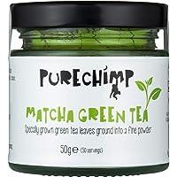 Matcha Green Tea Powder 50g(1.75oz) by PureChimp   Ceremonial Grade from Japan   Pesticide-Free   Recyclable Glass Jars & Aluminium Lid (Regular)