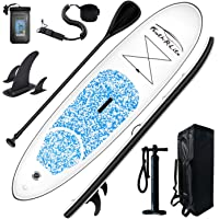 FEATH-R-LITE Inflatable Stand Up Paddle Board 10'x30''x6'' Ultra-Light (16.7lbs) SUP with Paddleboard Accessories,Three…