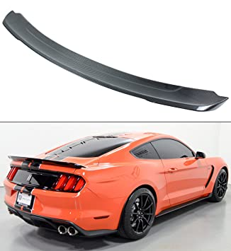 For 2015-2017 Ford Mustang GT H Style Carbon Fiber Rear Trunk Spoiler Wing Lid