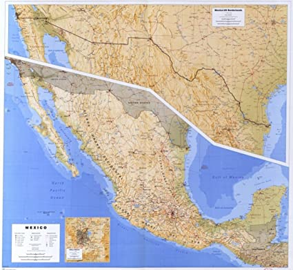 Amazon Com Map Of Mexico Valley Of Mexico And Ancillary Map Of