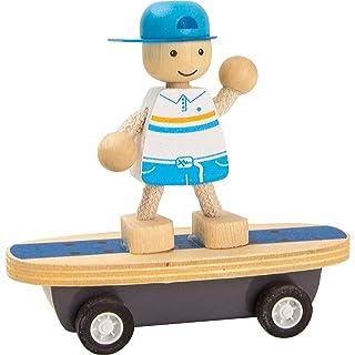 Skater gioco da tirare in legno gioco ecologico per bambini Small Foot Company