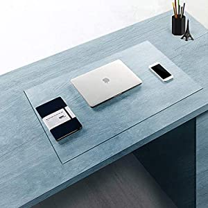 "Clear Multifunctional Desk Pad,Table Mat 35.4x17"" BUBM PVC Rectangular, PVC Table Cover Desk Pad Mat for Office & Computer Desk"