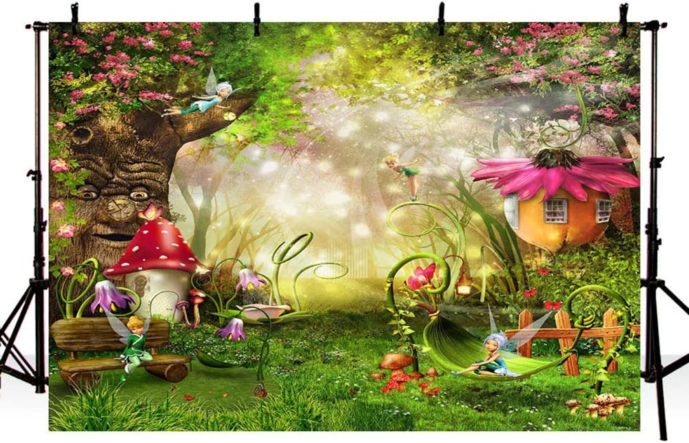 Gnome Party Decor Fairy Birthday Decor Enchanted Forest Birthday Mushroom Banner