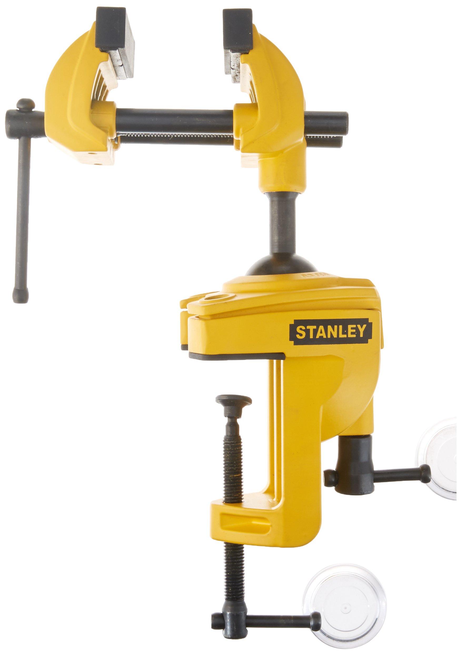 Stanley 1-83-069 MaxSteel Multi Angle Hobby Vice, Yellow/Black