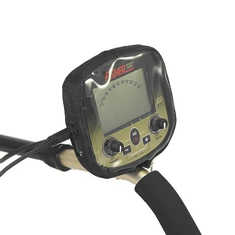 Negro lluvia Protector contra el polvo para detector de metal Fisher dorado Bug Pro
