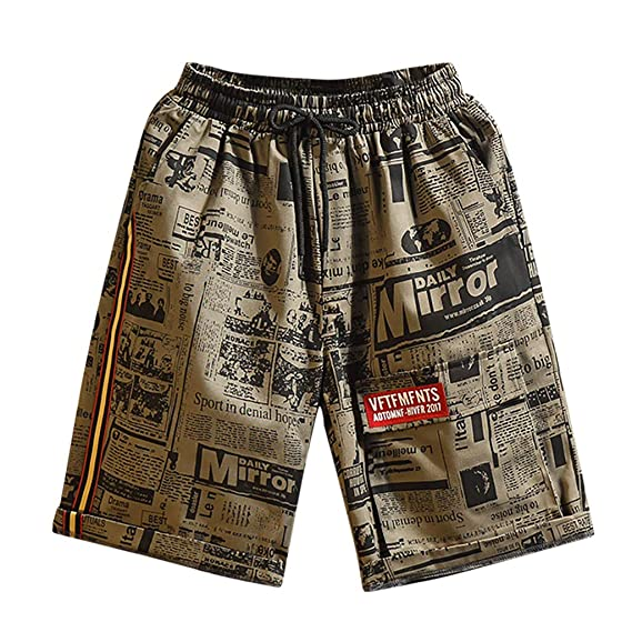 Mens Printed Swimming Beach Surfing Shorts Trousers in Spring and Summer