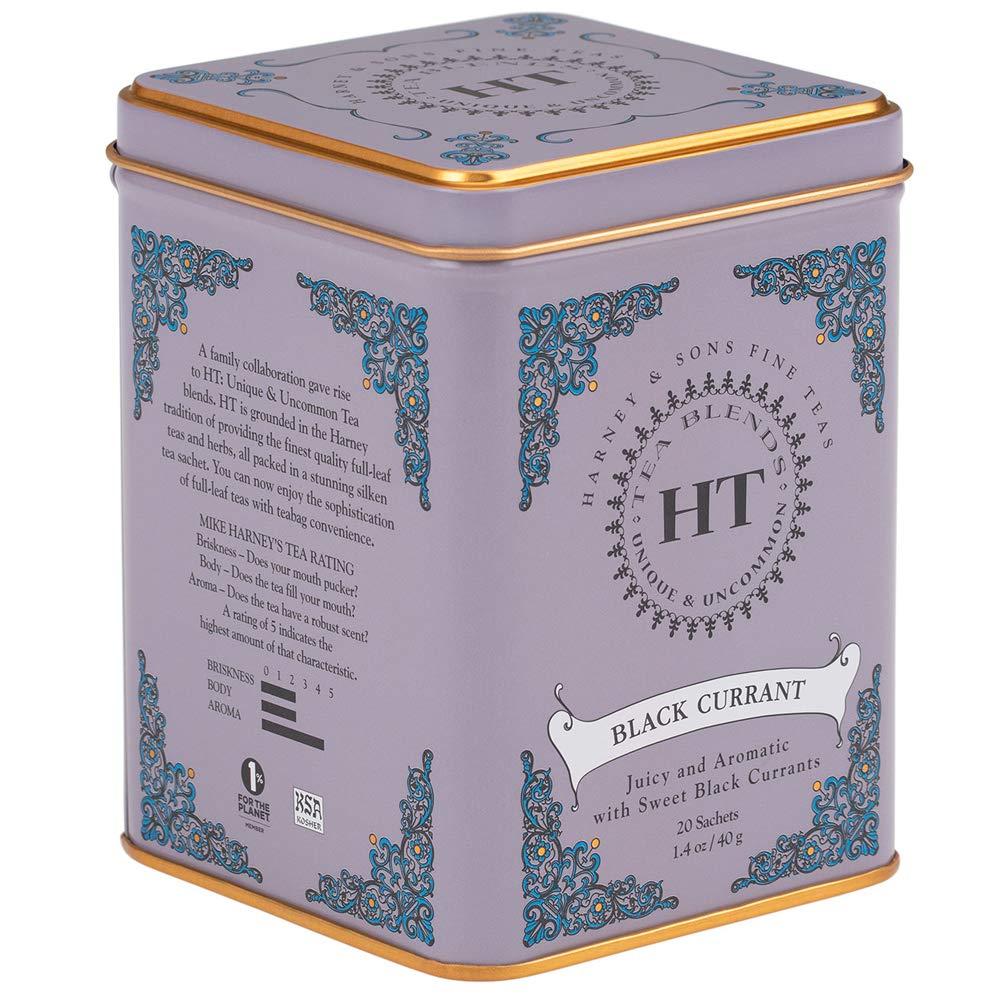 Harney & Sons Caffeinated Black Currant Black Tea Tin 20 Sachets