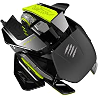 Mad Catz R.A.T. PRO X MCB4371800P6/02/1 1 x Wheel Wired Laser Ultimate Gaming Mouse with Philips PLN2037 Twin-eye Laser…