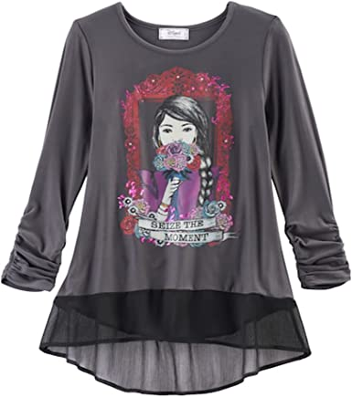 COCO Disney Girls Chiffon Hem Top