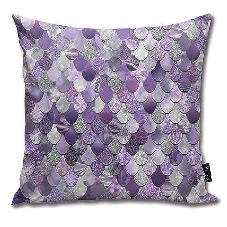Hat New Funda de cojín de algodón con diseño de Sirena ...