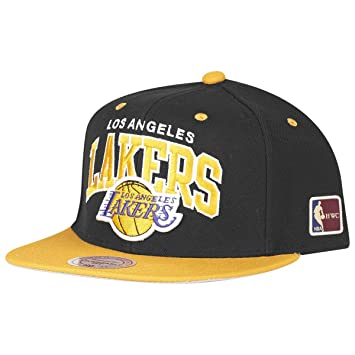 the latest 89e2c 9e7ac Mitchell   Ness Los Angeles Lakers Team Arch Snapback NBA Cap  w HWC Patch