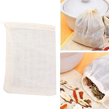 Amazon.com: Jiecikou 10/50/100 bolsas de sopa reutilizables ...