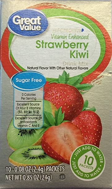 great value good source of vitamin c kiwi strawberry fitness drink mix pack of 4