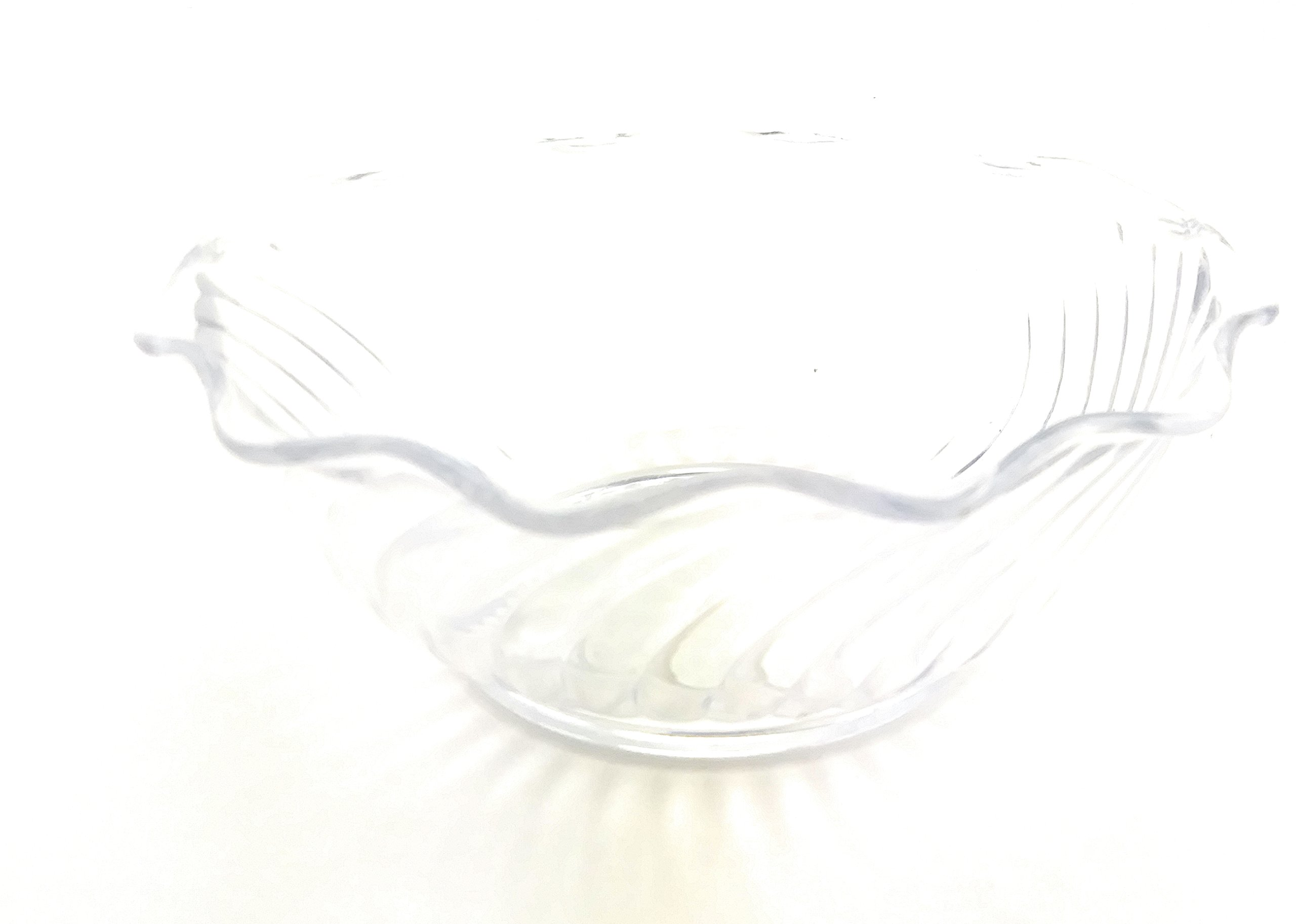 Plastic Swirl Design Soup Cereal Bowl (Clear)