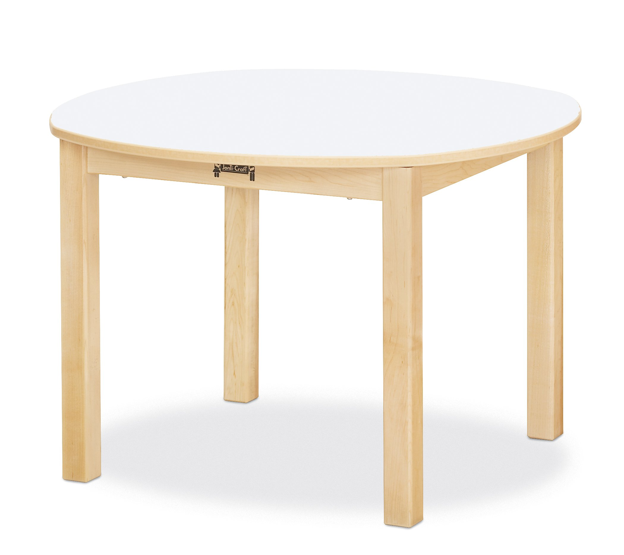 Jonti-Craft 56024JC Multi-Purpose Round Table, 24'' High, White