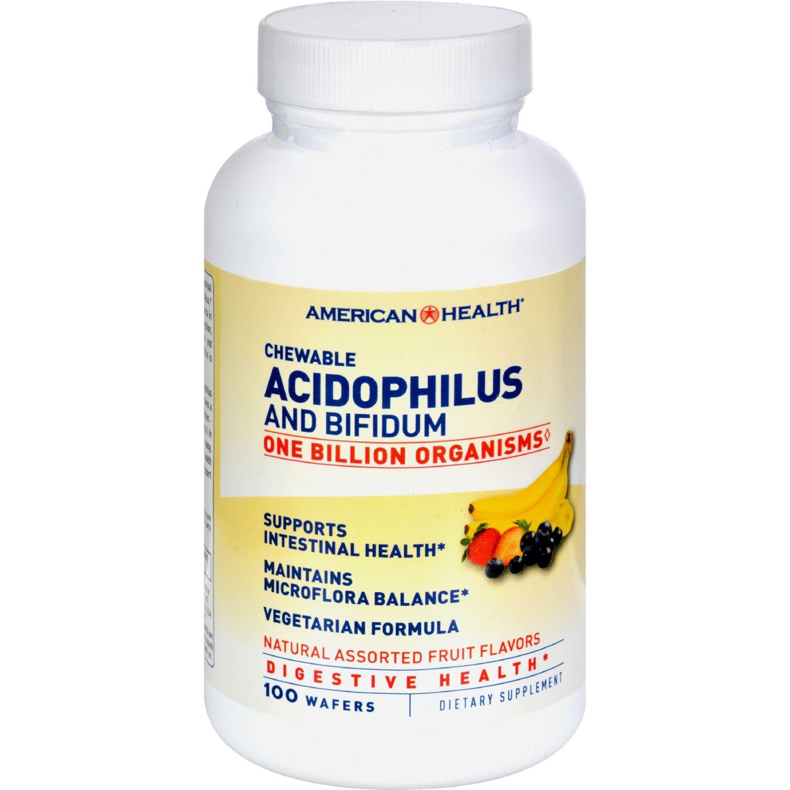 AMERICAN HEALTH ACIDOPHILUS,CHEWBL,FRUIT, 100 WAF