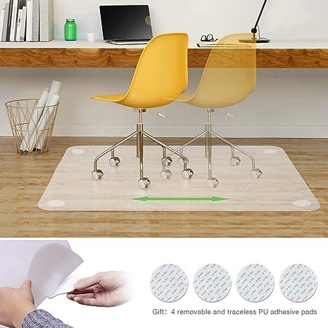 Elegear Alfombrilla de silla PE para oficina 90*120cm [Edición Mejorada] Protector Suelo
