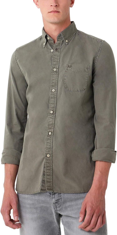 Scalpers Camisa Garment Dye Botones - Khaki / 41