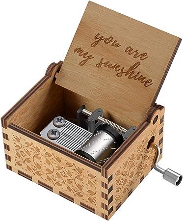 Amazon.com: Cajas de música de madera con grabado láser ...