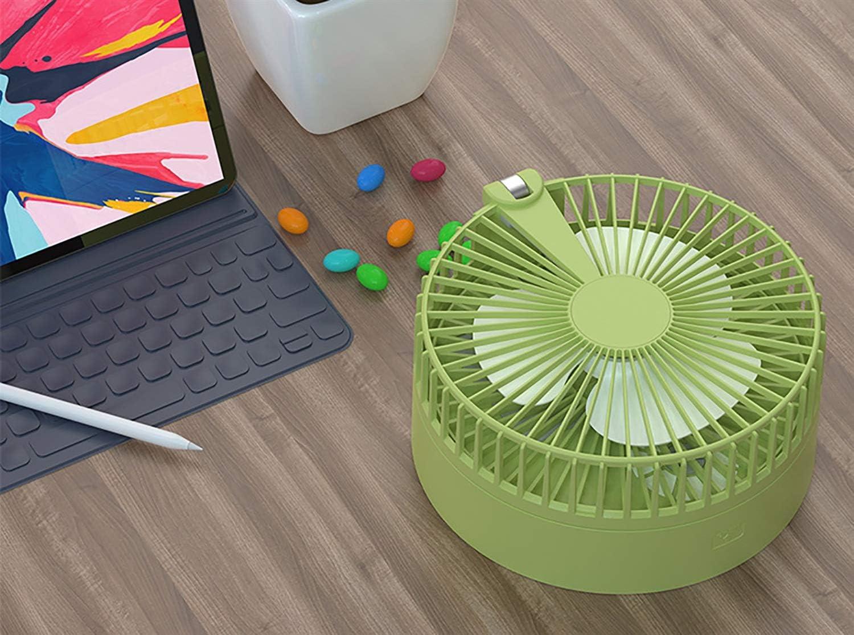 TANKLE Tamaño de Escritorio portátil Ventilador de refrigeración de plástico Oficina del Dormitorio USB Compacto pequeño for la Oficina del Dormitorio del Escritorio del Ventilador pequeño Ventilador