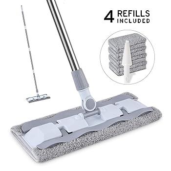 HOMTOYOU Microfiber Flat Mop