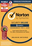Symantec Norton Security Deluxe mit Norton Utilities 16.0 Bundle | 5 Geräte | PC/Mac/Smartphone/Tablet | Download